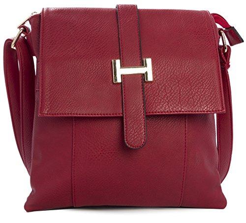 Big Handbag Shop, Borsa a spalla uomo One Rosso (rosso)