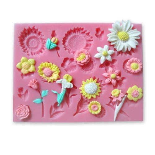 22-Loch Silikonform Ausstechformen Sonnenblumen Blume Ausstecher Torten Cup Cake Muffin Kuchen Deko