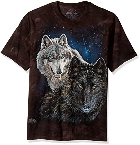 The Mountain Herren T-Shirt Star Wolves - Schwarz - XX-Large (T-shirt Erwachsene Schwarz Kurzarm)
