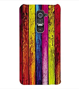 ColourCraft Coloured Wood Pattern Back Case Cover for LG G2