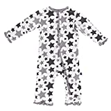 KicKee Pants Essentials Print Ruffle Coverall Feather/Rain Stars (0 - 3 Months)