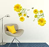 Decals Design 'Flowers Yellow Daisy with...