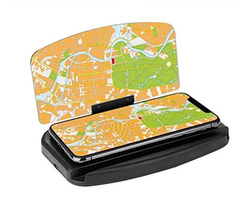 Kadeva - Caricabatterie Wireless per Cellulare da Auto, Ricarica Rapida 10 W, proiettore GPS, Schermo Wireless, Caricatore Senza Cav