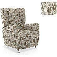 Funda sillón Orejero Aljub Tamaño 1 plaza (Estándar), Color Blanco (varios colores disponibles)