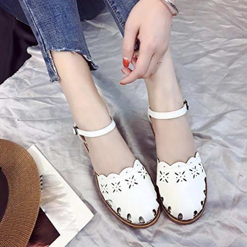 Webla Frauen Point Toe Pumps Thin Air Heels Schuhe Frau Schuhe Sandalen Damen Offene Sandalen mit Keilabsatz T-Spangen Weiß