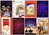 Lote de 12 tarjetas con motivos religiosos