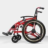 TPKNG Outdoor Pieghevole Bicicletta Sedia A Rotelle Trasporto Viaggio Confortevole Sedia A Rotelle A Piedi Freno Adatto per Anziani Disabili