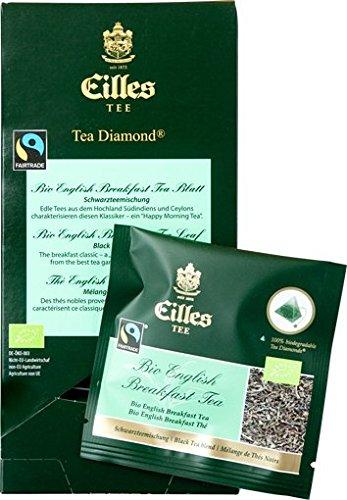 Eilles Luxury World Selection Tea Bio English Breakfast Blatt – 20 Tea Diamonds einzelverpackt