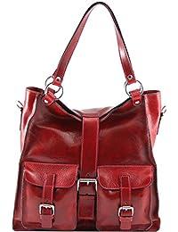 81409284 - TUSCANY LEATHER: MELISSA - Sac pour femme en cuir, rouge