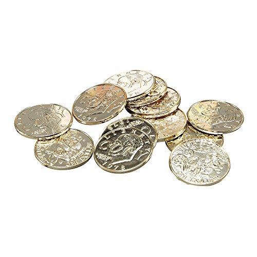 Bristol Novelty BA1003 Pirat Münzen, Gold, unisex - erwachsene, Einheitsgröße (Schatztruhe Piraten Kostüm)