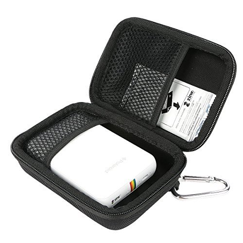 "Khanka EVA Dur Cas Voyage étui Housse Porter Sac Case pour Polaroid Snap Appareil photo numérique instantané / Polaroid ZIP Mobile Printer. Mesh Pocket Fits Polaroid - Papier photo ZINK Premium 2""x3"" - Noir"