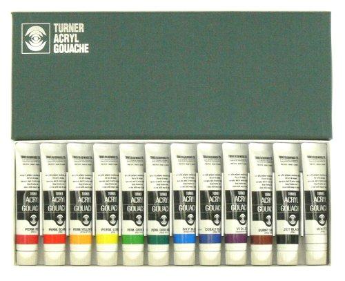 Turner Acrylic Gouache 20ml 12 color set (japan import)