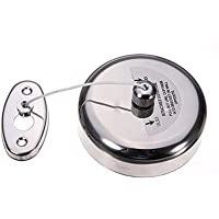 Pesca Stainless Steel Retractable Cloth Line Adjustable Lockable Hanging Washing Line