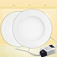 PMS® 3W 6W 9W 12W 15W 18W Faretti Incasso LED Pannello Faro Luce Bianco Caldo Tondo Risparmio Energetico (3 Watts)