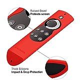 OEAGO Silicone [Anti Slip] Shock Proof Cover Case for All-New Fire TV with 4K Alexa Voice Remote (2017 Edition) (2nd Gen) / Fire TV Stick Alexa Voice Remote (Red)
