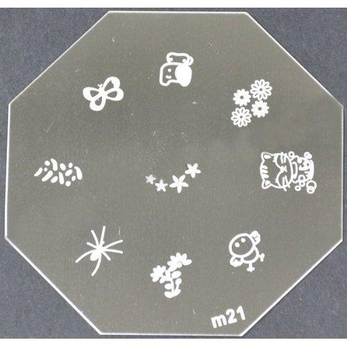 Nail Art emboutissage des tôles - M01 CODE : M21-plaque