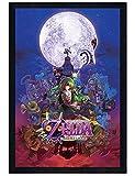 Legend of Zelda in schwarzes Holz eingerahmtes Majora's Mask Poster 61x91,5cm