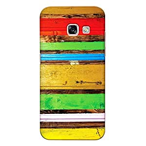 DASM United Samsung A5 2017 Premium Back Case Cover - Multicolor on Wood