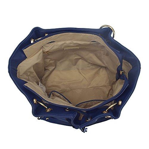 U.S.POLO ASSN. Borsa a mano, manici ampi, con lacci restringibili 27-36x12x23.5 cm Blu