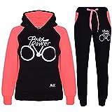 A2Z 4 Kids® Kinder Trainingsanzug Jungen Mädchen Designer Pedal Power Aufdruck - T.S Pedal Power Black Neon Pink 11-1