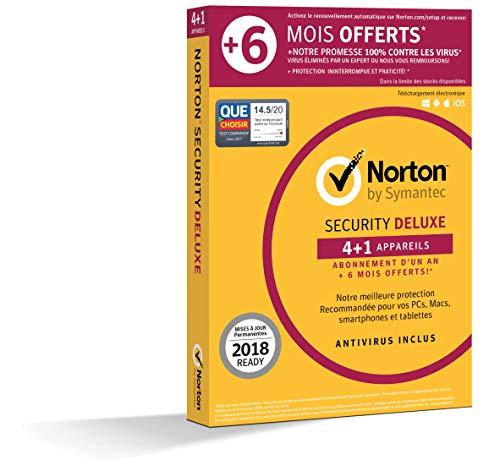 Norton Security 2018 Deluxe 12+6 mois