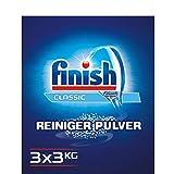 Finish Classic Reiniger-Pulver, Geschirrreiniger Pulver, 9 kg (3 x 3 kg)