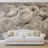 Weiße Rosen Vintage-Effekt - Forwall - Fototapete - Tapete - Fotomural - Mural Wandbild - (2424WM) - XXL - 312cm x 219cm - VLIES (EasyInstall) - 3 Pieces