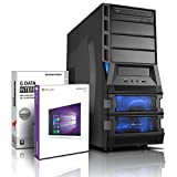Gaming / Multimedia COMPUTER mit 3 Jahren Garantie! | Quad-Core! AMD FX 4100 4 x 3800 MHz | 8192MB DDR3 | 500GB S-ATA II HDD | NVIDIA Geforce GT 710 2048 MB HDMI/DVI/VGA mit DirectX12 Technology | 22x Dual Layer DVD-Brenner | 150 MBit WiFi | All-In One Card-Reader | 7 USB-Anschlüsse | Windows10 Prof | GDATA Internet Security | #5500