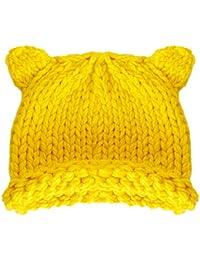 8d8a612f669b Liny Bonnet Hiver pour Enfant Fille - Chapeau Bébé Garçon Hiver Chaud Tricot  Beanie Casquette Cartoon