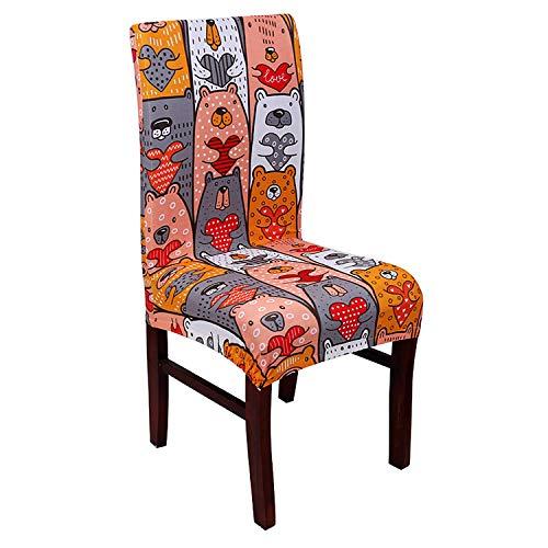 ZTDE Butterfly Printing Dining Stuhlabdeckung Spandex Elastische Stuhl Protector Schutzhülle Abnehmbare Staubdicht Dekorative Sitzhülle 21 universal