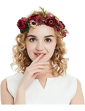 SEESUNGM Cinta Para El Cabello Ever De Corona De Flores, Ajustable, Para Mujer O NiñAs