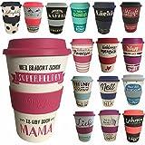 LS Design Öko Coffee to Go Kaffe Tee Becher eCoffee Bamboo Bambus Cup es gibt doch Mama