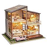 DIY Dollhouse Gro�e Villa Luxus-Puppenhaus Sch�nes Geschenk mit Musik Bild