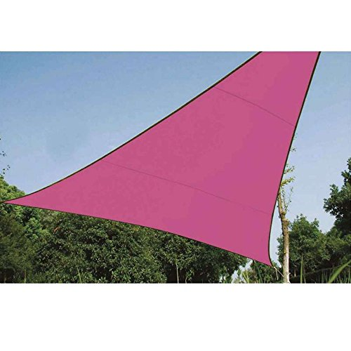 Voile d'ombrage triangle 3,6 m rose