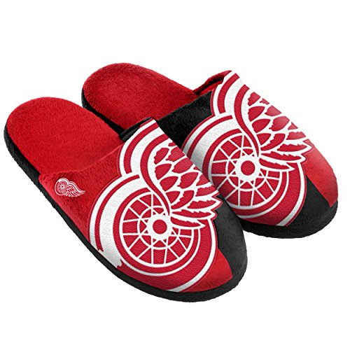 Forever Collectibles Detroit Red Wings Split Farbe Slide Slipper Medium
