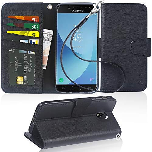 Arae Samsung Galaxy J5 2017 Hülle, Handyhülle Galaxy J5 2017 Tasche Leder Flip Cover Brieftasche Etui Schutzhülle für Samsung Galaxy J5 2017 - Schwarz