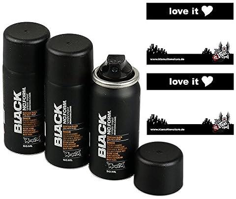 Montana Black Sprühdose Pocket Can 50ml black - 3x50ml Vorratspack exklusiv und nur original von klamottenstore