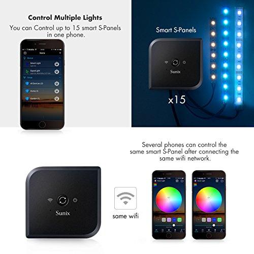 sunix led rgb streifen steuerung mit wifi android ios alexa google steuerung rgb warmwei. Black Bedroom Furniture Sets. Home Design Ideas