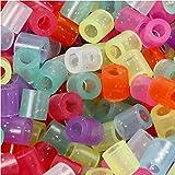 Nabbi Perline da stiro in un secchio con manico scatola da 20000) Hama compatibile, Glitter Farben
