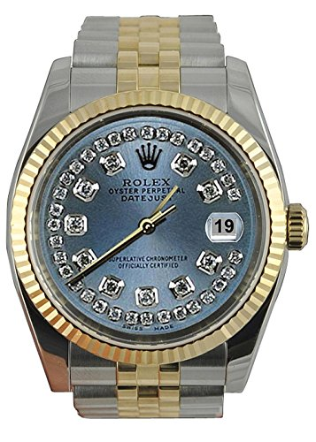 Rolex Datejust Herrenuhr grau Jubiläumsarmband SS & Gold