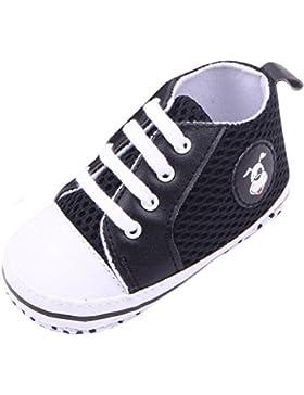 Lukis Baby Lauflernschuhe Sneaker Canvas Sports Schuhe Babyschuhe Schwarz Fußlänge13cm