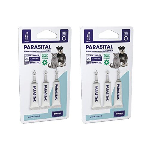 Parasital Pipetas Antiparasitarias para Perros Pequeños y Gatos de hasta 10 kg...