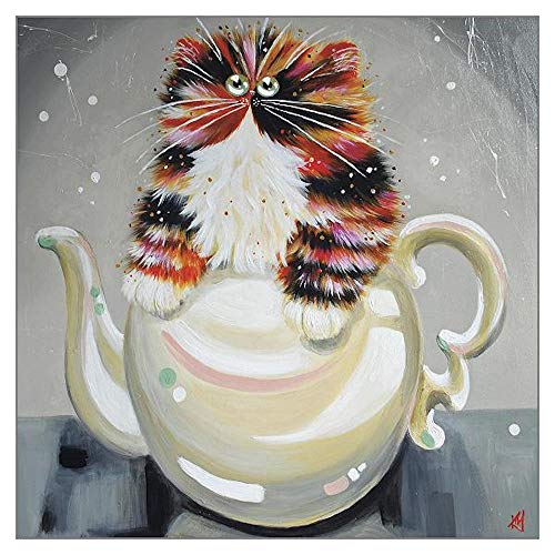 Oolong - One of Our Glorious, Glossy Cat 'Amber Eyes' Funny Greeting Card Range by Kim Haskins