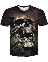 Pizoff Unisex Digital Print Slim Fit T-Shirt With Cartoon 3D Pattern