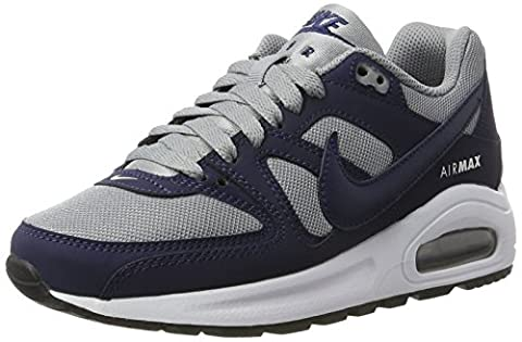 Nike Boys' Air Max Command Flex (Gs) Low-Top Sneakers, Grey (Stealth/Midnight Nvy-White-Black), 5 UK
