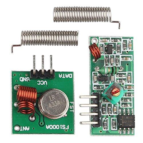 haljia 5x 433MHz RF Transmitter Empfänger Modul Wireless Link Kit Set für Arduino Raspberry Pi (Rc-sender-modul)