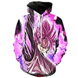 PIZZ ANNU pull avec capuche d'impression 3D dessin animé Dragon Ball hommes sweat-shirt (0802, M)