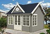 Alpholz Gartenhaus Clockhouse-44 Royal ISO, 44 mm Wandstärke (420 x 320 cm)