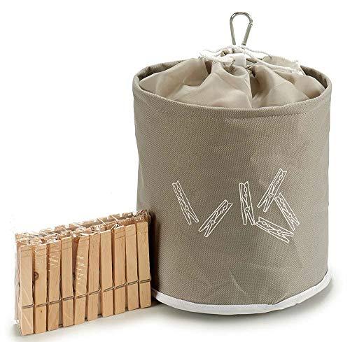 Takestop® - Bolsa de Tela con 20 Pinzas