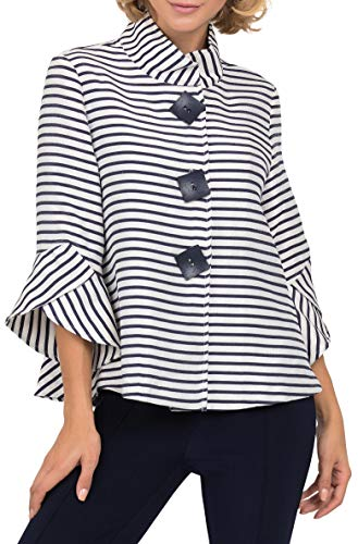 Joseph Ribkoff Womens Striped Jacquard Jacket